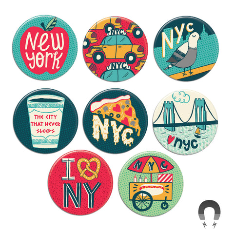 New York City Big Magnets Bundle