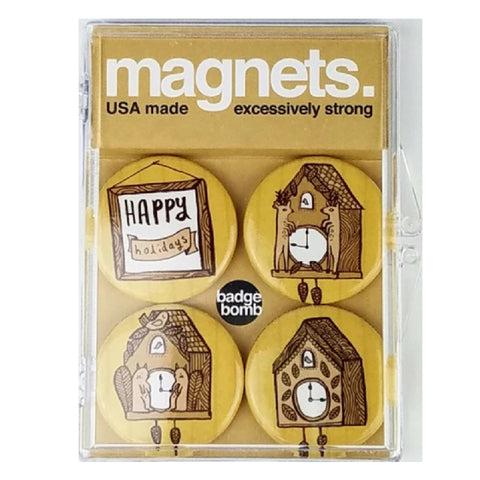 Holiday Clocks Magnet Pack