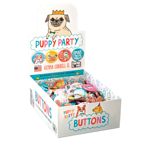 Puppy Party Button Box by Gemma Correll