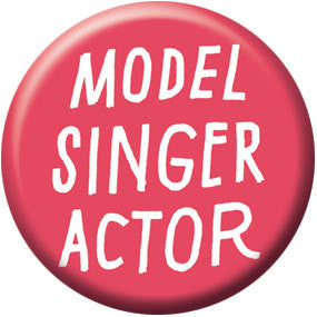 Ray Fenwick Model Singer Actor 1 inch Button