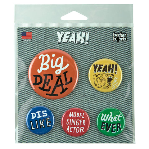 Yeah! Buttons by Ray Fenwick for Badge Bomb
