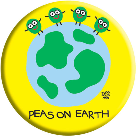Peas on Earth Button by Stupid Factory