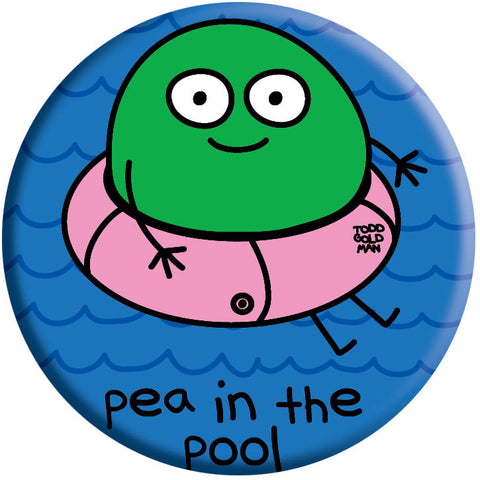 Pea in Pool Button by Stupid Factory
