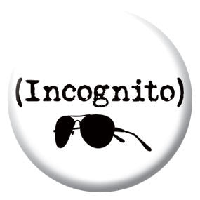 "Incognito 1"" Button by Seltzer Goods"