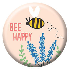 Seltzer Goods Bee Happy 1 inch Button