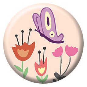 Seltzer Goods Butterfly 1 inch Button