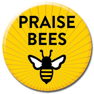 "Praise Bees Sunrays 1"" Button by Seltzer Goods"