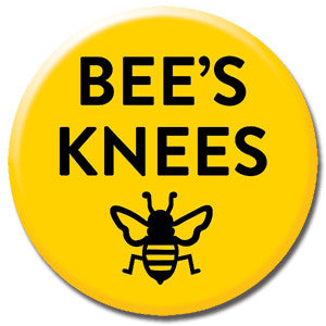 "Bees Knees 1"" Button by Seltzer Goods"