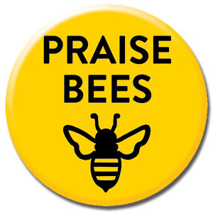 "Praise Bees Yellow 1"" Button by Seltzer Goods"