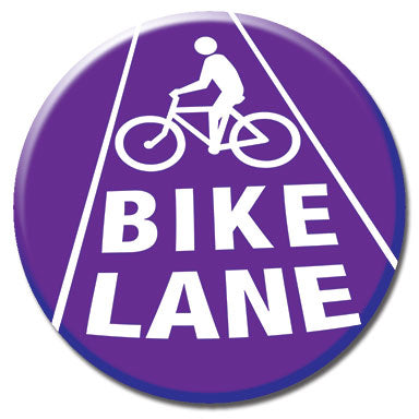 "Bike Lane 1.25"" Button"