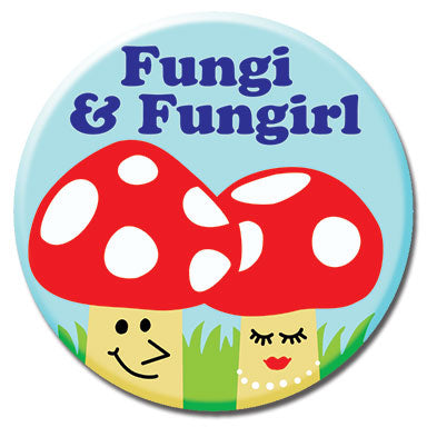 "Fungi Girl 1.25"" Button"