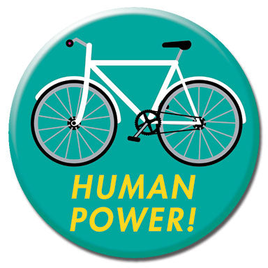 "Human Power 1.25"" Button"