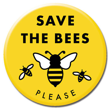 "Save The Bees 1.25"" Button"