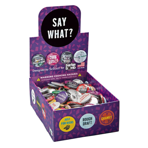 Say What? Button Box by Seltzer Goods