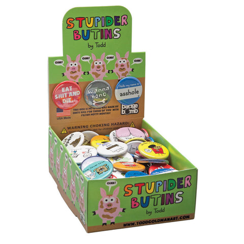 Stupider Buttons Button Box
