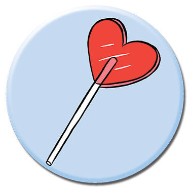 "Heart Lolipop 1.25"" Button by Tuesday Bassen"