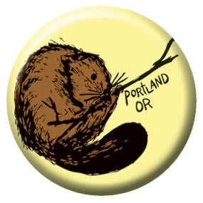 Oregon Beaver 1 inch Button