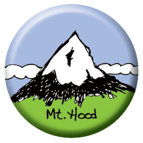Mt Hood 1 inch Button