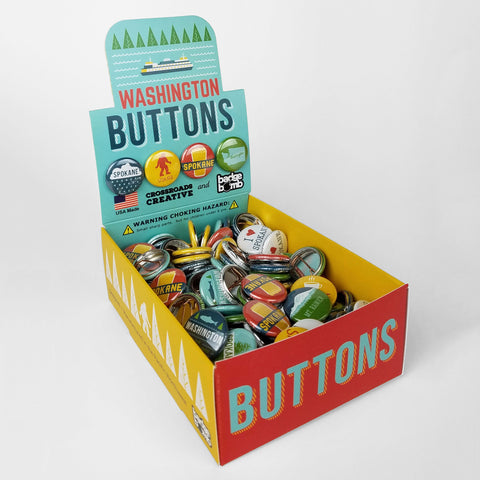 Spokane Washington Button Box