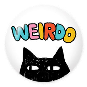 "Weirdo Cat 1"" Button by Gemma Correll"