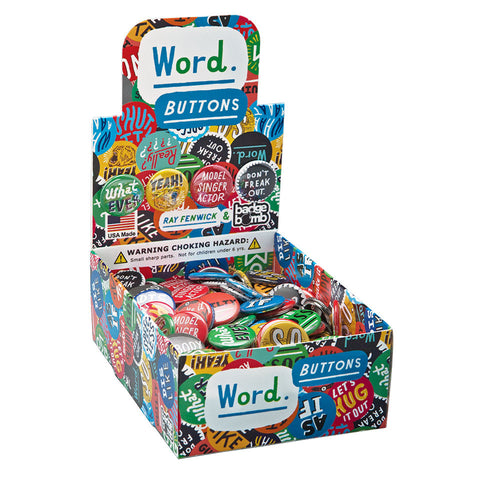Word. Buttons Box by Ray Fenwick