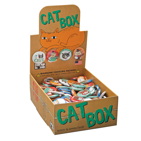 Cat Box - Button Box by Gemma Correll