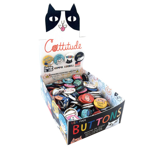 Cattitude Button Box by Gemma Correll