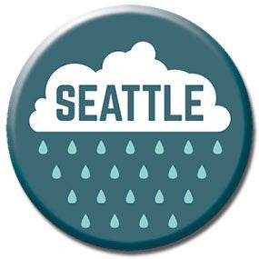 "Seattle Rain 1"" button by Badge Bomb"