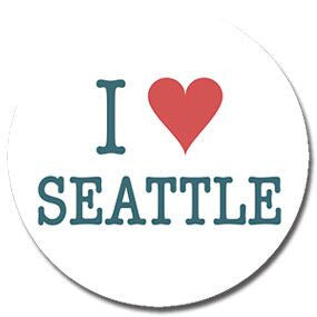 "I Heart Seattle 1"" button by Badge Bomb"