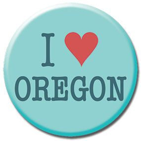 "I Heart Oregon 1"" button by Badge Bomb"