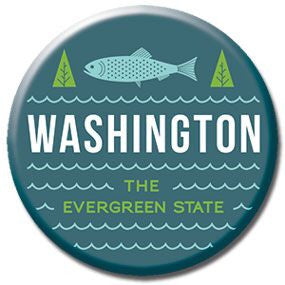 "Washington Evergreen State 1"" button by Badge Bomb"