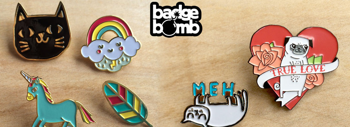 Brand New Pins from Badge Bomb!