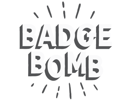 Badge Bomb, Wholesale Buttons + Magnets