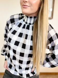 The Ellie Plaid Top