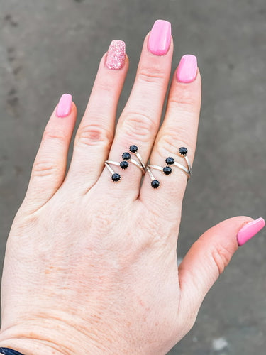 The Onyx Wrap Rings