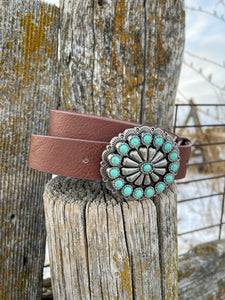 Faux Turquoise Cluster Belt