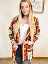 Red plaid cardigan with pockets - Wesley's