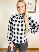 Checkered black and white top - Wesley's