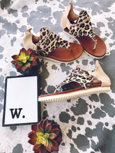 The Lainey Leopard Canvas Sandals