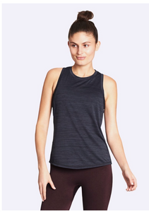 Nimble- Double Twist Tank - Charcoal