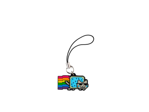 Cool Jazz Nyan Cat Metal Phone Charm. Now on sale!