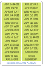 Load image into Gallery viewer, April Dates - Letter H