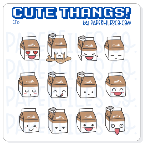 CT13 Chocolate Milk Emojis