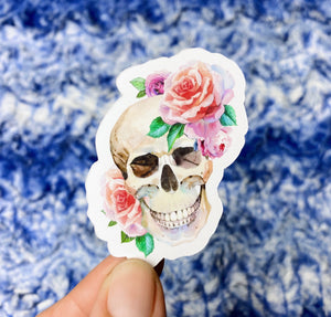 SD14 Skull with Flowers