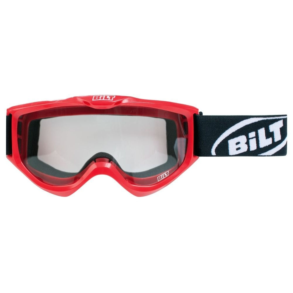 BILT Illusion Off-Road Motorcycle Goggles - Red - Cositas Prácticas