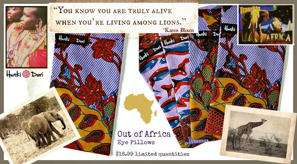 out of africa eye pillows hunki dori tusk