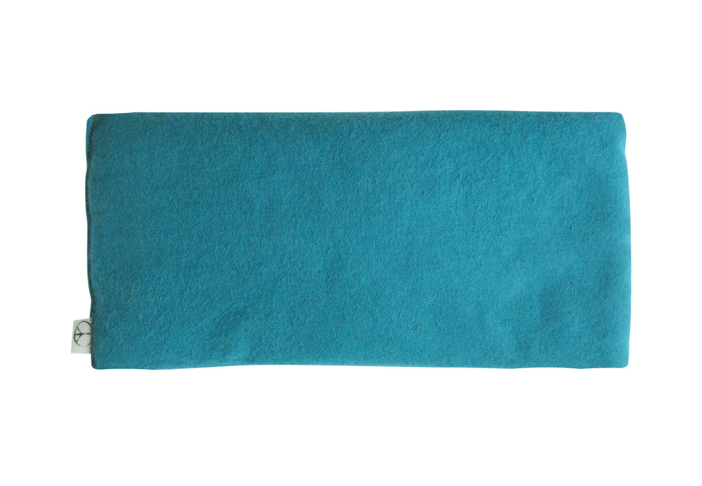 Peacegoods Unscented Eye Pillow, cotton flannel, flax seed, soft, soothing, natural, teal, green, turquoise, yoga, massage, spa, sleep, meditation, travel, made usa