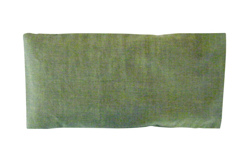 Peacegoods Eye Pillow, scented, lavender flax, cotton, green, washable cover, natural, soft, soothing, yoga, massage, spa, relaxation, aromatherapy, meditation, gift, made usa