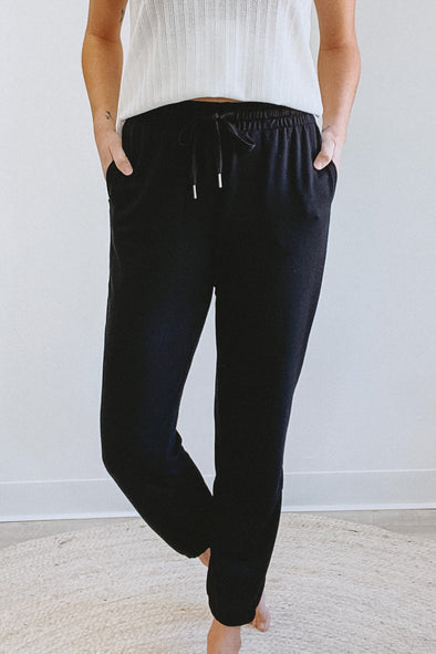 Gentle Fawn Caitlin Black Jogger Pants