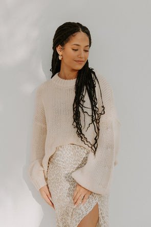 Phaedra Cream Sweater